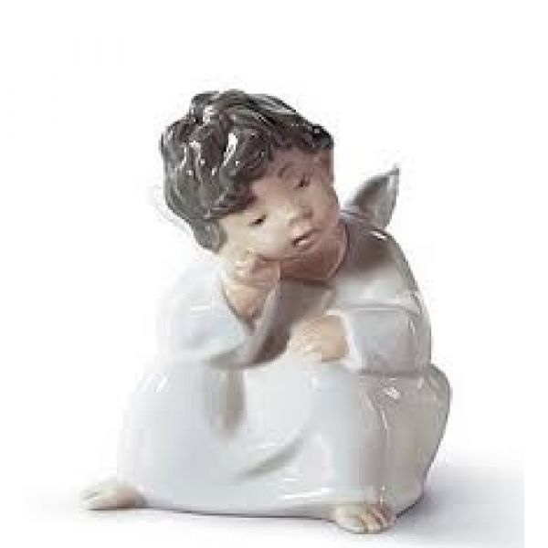 Lladro Figurines Angel Thinking