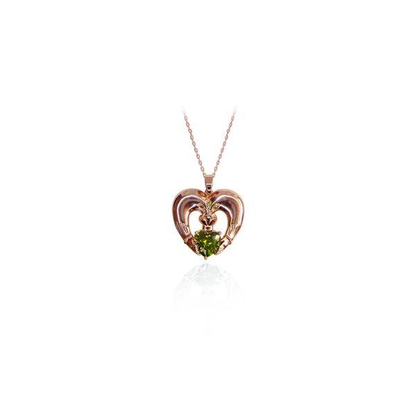 Tipperary Maureen O'Hara Rose Gold Claddagh Pendant