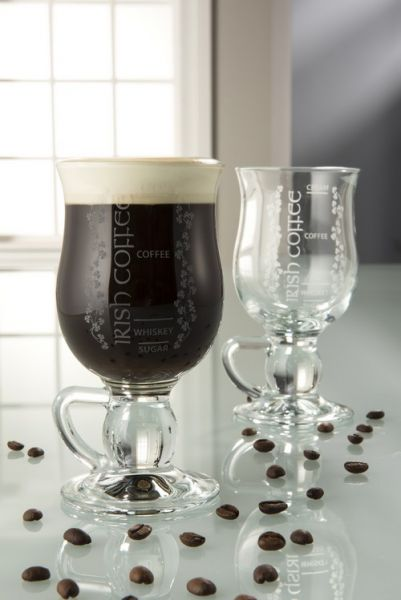 Galway Crystal Irish Coffee Glass Pair