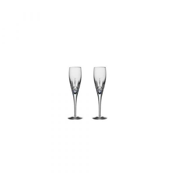 Galway Crystal Longford Flute Champagne Pair