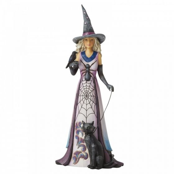 Jim Shore Friendly Witch with Spider Web Skirt Figurine