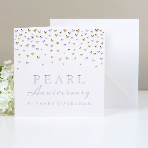 Greeting Cards Pearl Anniversary 30 Years Together