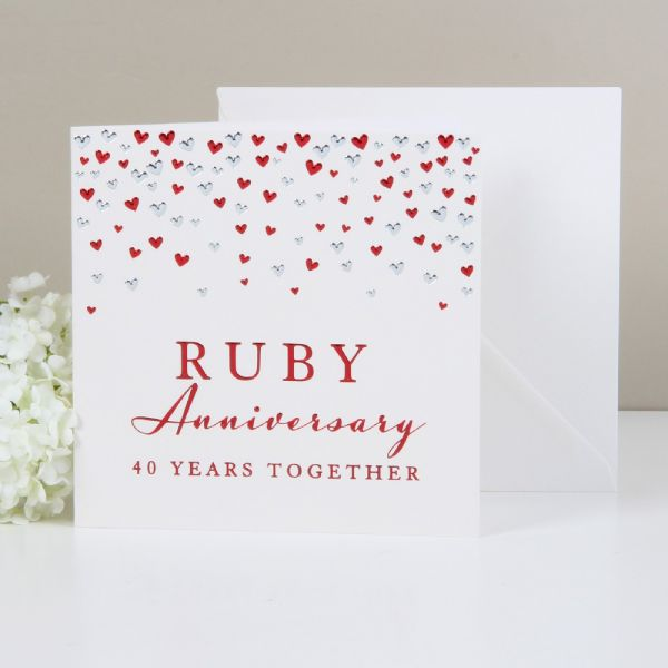 Greeting Cards Ruby Anniversary 40 Years Together