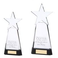 Black Base Crystal Star Award 270mm