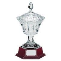 The Trophy Crystal Vase W/ Lid & Base 345mm