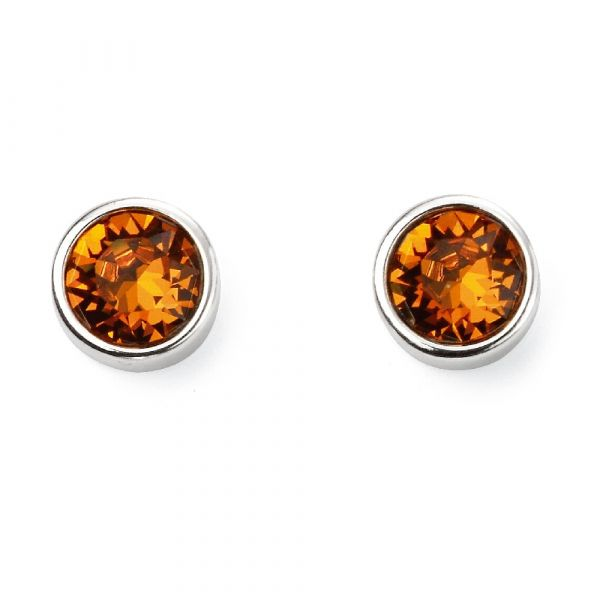Signature Silver November Birthstone Earrings (Topaz)
